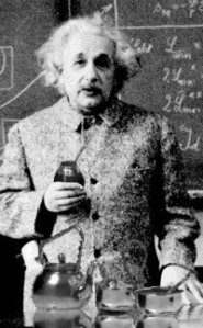 einstein drinking yerba mate